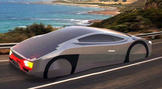 A SOLAR ELECTRIC MOTORCAR