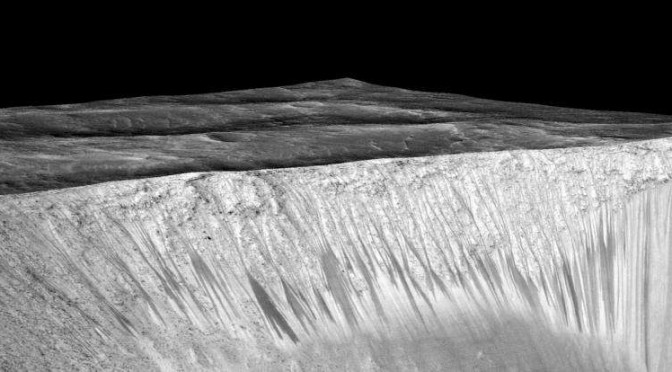 NASA CONFIRMS FLOWING WATER ON MARS