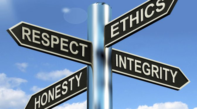 Respect Ethics Honest Integrity Signpost Meaning Good Qualities IN OUR METAMODERN WORLD